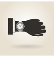 Hand Wristwatch vector image