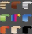 Hands arrows EPS10 vector image