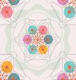 lotus geometry seamless pattern vector image