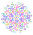 pastel big flower vector image