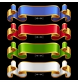 Ribbons set 13 vector image