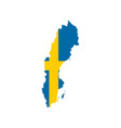 sweden flag and map vector image