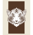 Tiger icon Animal and Ornamental predator design vector image
