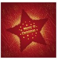 Red Christmas Star vector image