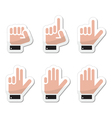 Counting hand signs as labels - isolated vector image vector image