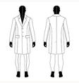 man black silhouette figure in a coat vector image vector image