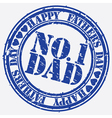 Happy fathers day Number 1 dad stamp vector image