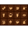 set of coffee icon vector image