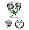 Tennis sporting emblem or logo vector image vector image