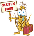wheat cartoon isolated on white background vector image