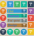 Paint roller icon sign Set of twenty colored flat vector image