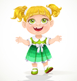 Cute little girl reaches out for hugs vector image