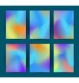 Fluid colorful backgrounds set vector image