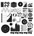 Infographics elements set black simple vector image