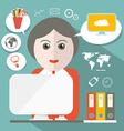 Secretary Flat Design vector image