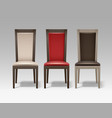 set of room chairs vector image