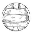 sketch of a volleyball ball vector image