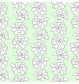succulents seamless pattern for textile design vector image