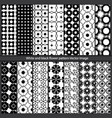 white and black flower pattern image vector image