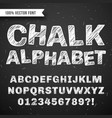 white chalk hand drawing alphabet school vector image