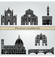 Florence landmarks and monuments vector image vector image