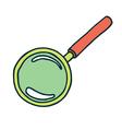 magnifier color vector image
