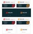 business card internet service provider vector image