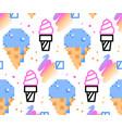 summer ice-cream seamless pattern vector image