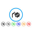 2017 worker rolling gear rounded icon vector image