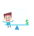 Financial balance vector image vector image