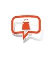 Shopping bag message sticker orange vector image