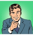 Man pointing finger vector image