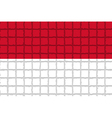 The mosaic flag of Indonesia vector image