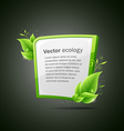 Frame green and white leaf ecology vector image