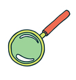 magnifier color vector image