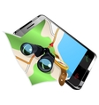 Navigation on smart phone vector image