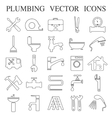 plumbing emblems labels and design elements vector image