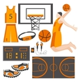 Set icons sports goods athlete ball sneakers vector image