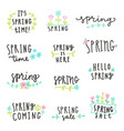 set of spring lettering vector image