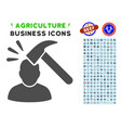 shock icon with agriculture set vector image