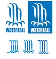 waterfalls logo set vector image