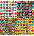 Colorful Seamless Sheep and Yarn Balls Pattern vector image