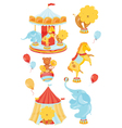Icons with circus vector image vector image