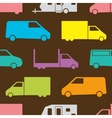 Retro truck pattern vector image