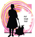 Woman cleaner vector image vector image