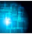 Dark tech backdrop vector image vector image