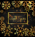 stylish golden snowflakes on black background for vector image
