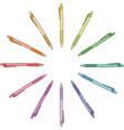 Colour pen vector image