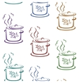 Seamless background kitchen pan vector image vector image