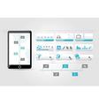 Web buttons set blue design time line infographic vector image